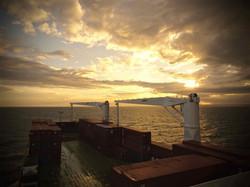 Sonnenuntergang vor Westafrika