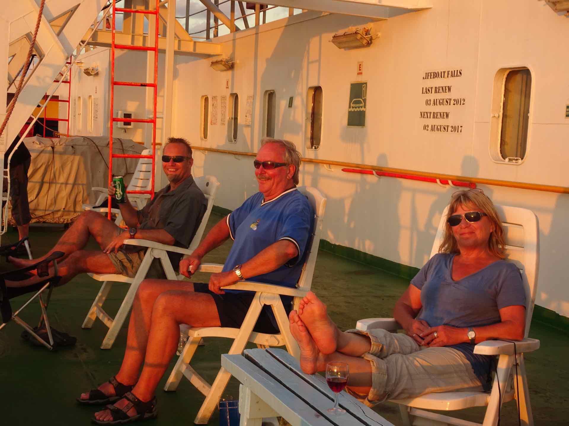 Sundowner mit Helga und Helmut