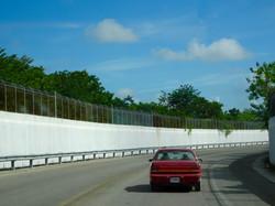 Grenzzaun zwischen Belize und Mexiko