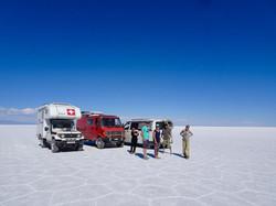 Schweizer Treffen auf dem Salar de Uyuni
