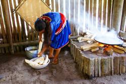 Die Yuca wird gewaschen