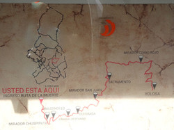2 Plan der Ruta de la Muerta