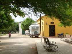 Parkplatz beim Hostel Amarillo