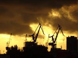Hamburg Hafenkräne