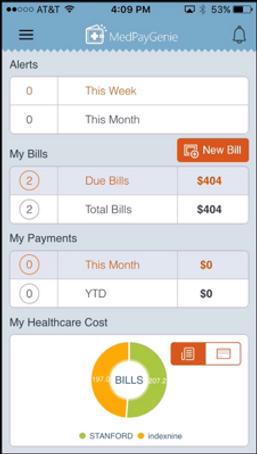 MedPayGenie App dashboard