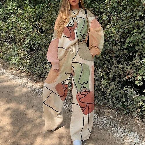 Casual Two Piece Suit Fashion Streetwear Tide