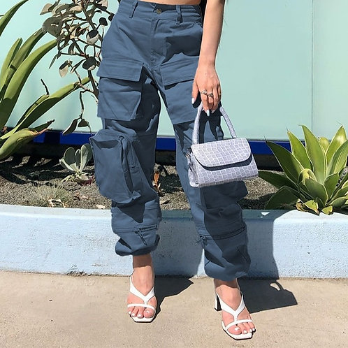Safari Style  Pockets Patchwork Hippie Trousers