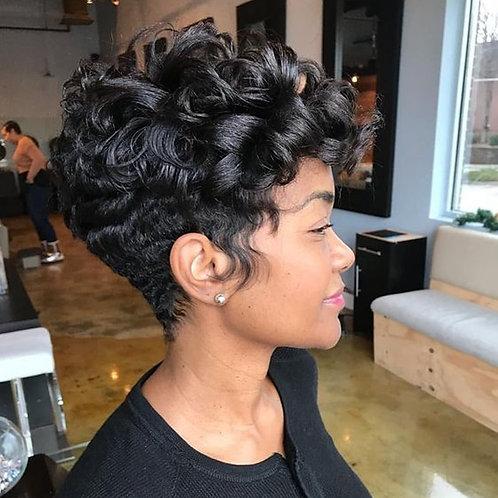 Pixie Cut Bob Lace Front Wigs 150% Density