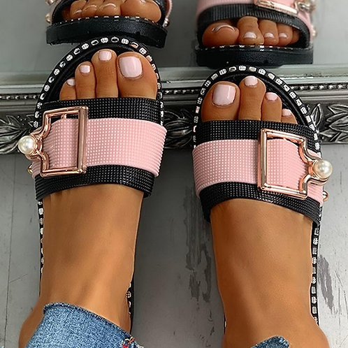 Summer Metal Buckle Sandals