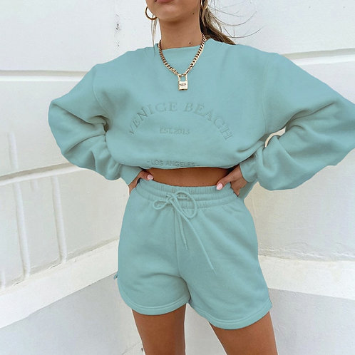 Embroidery Casual Sweatshirt Fleece Pullovers