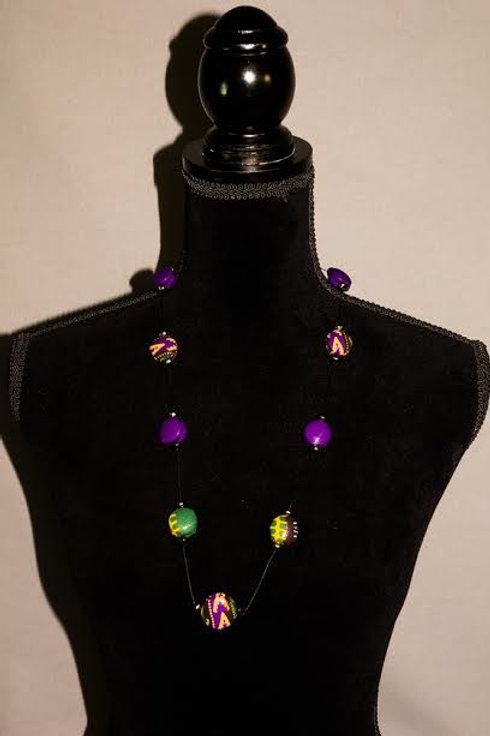 Dashiki Purple Necklace