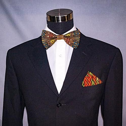Dashiki Bow tie/tie...Ankara tie/Bow tie...African tie/Bow tie..w/ Pocket Square