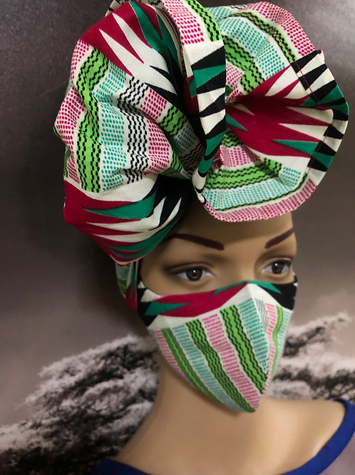 Face Mask with Head wrap