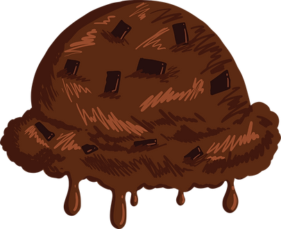Chocolate Ice Scoop Melting.png