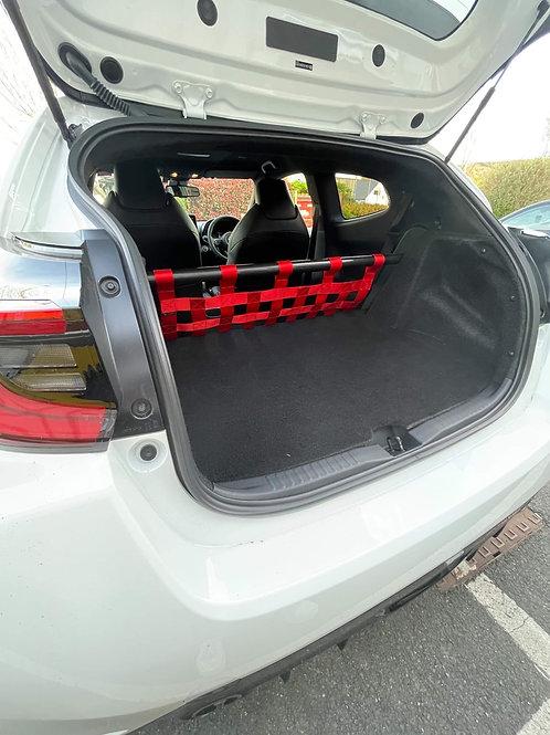 Toyota Yaris GR Cosmetic Strut Bar and Cargo Net