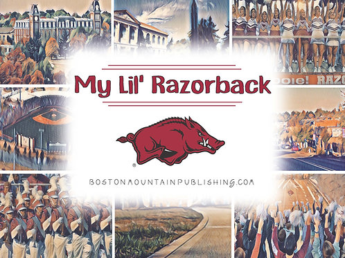 My Lil' Razorback Book - Colorful & Interactive +special gift.  For all ages.