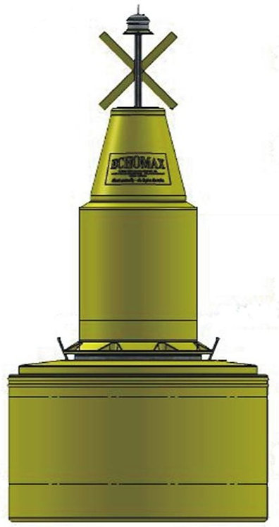 EM1250/780Navigation Buoy Cone top Yellow or Green
