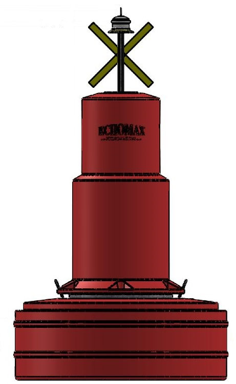 EM1250/480 Buoy Can top Red