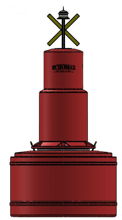 EM1250/780 Navigation Buoy Can top Red