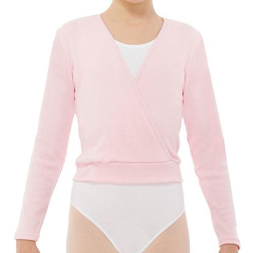 Rebeca rosa de algodon para niña