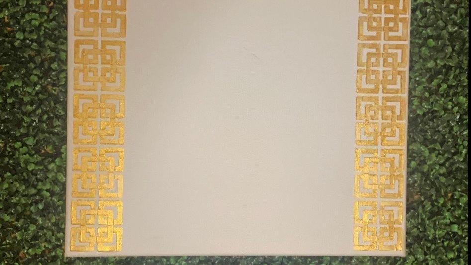 PRE-ORDER Painted Gold Metallic Customizable 16x20