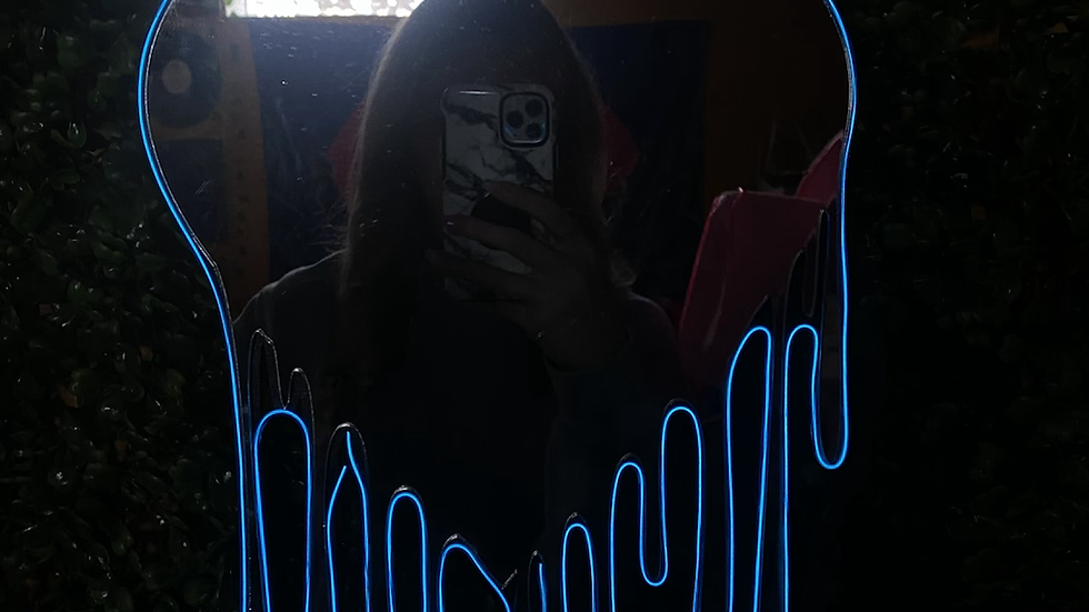 PRE-MADE Dripping Heart Mirror