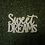 Thumbnail: Sweet Dreams yellow and white wood sign