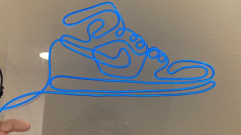 Acrylic Blue Nike Sneaker