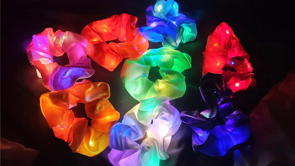 Glowing scrunchies