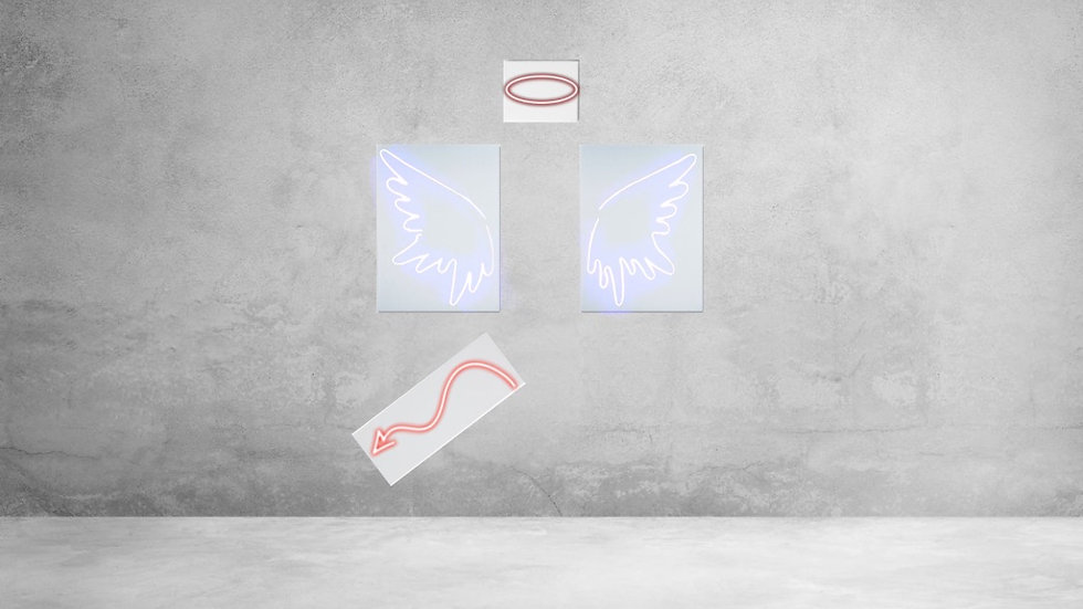 Angel/Devil Photo Wall Set