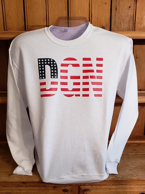 Patriotic DGN Crewneck Sweatshirt
