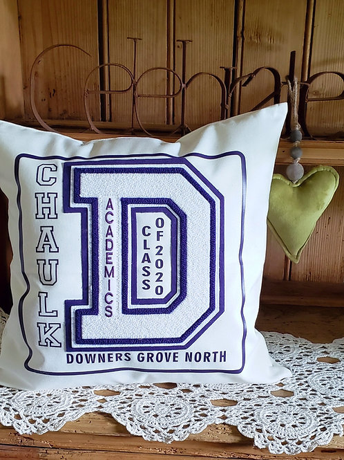 Personalized Varsity Letter Pillow