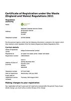 Indigo Carriers registration 2020 - 2023