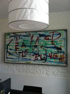Bling, 2012, acrylique sur toile, 200x100 cm