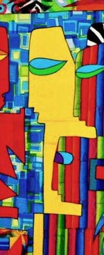 Rachel, 2010, technique mixte sur toile 90x90 cm