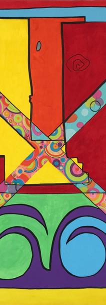 Croix,  technique mixte sur toile 90x90 cm