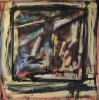 Poetrait or, 2017, technique mixte sur toile 90x90 cm