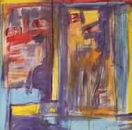 Contraire, 2012, technique mixte sur toile 90x90 cm