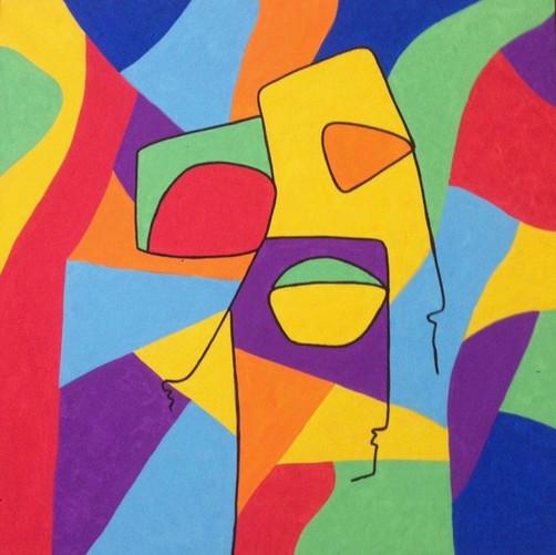 Mosa, 2015, acrylique sur toile, 50x50 cm