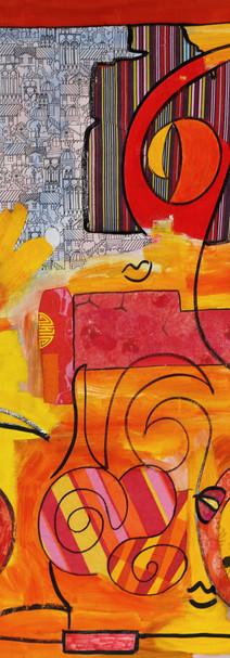 Air, 2015, technique mixte sur toile, 90x90 cm