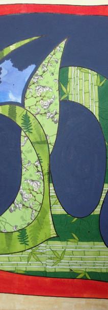 Végétal, 2016, technique mixte sur toile, 90x90 cm