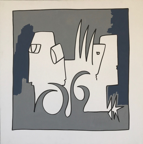 Zen, 2016, technique mixte sur toile 90x90 cm