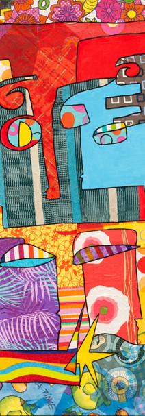 Anni, 2010, technique mixte sur toile 90x90 cm