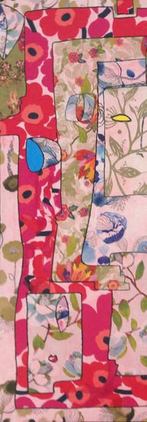 Rose, 2015,  technique mixte sur toile 90x90 cm