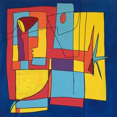 Mosaïque, 2013, technique mixte sur toile 90x90 cm