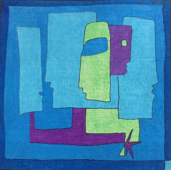 Flo, 2012, technique mixte sur toile 40x40 cm