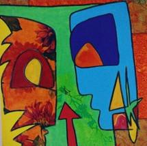 Jef, 2012, technique mixte sur toile 30x30 cm