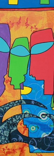 Faim, 2010, technique mixte sur toile, 90x90 cm