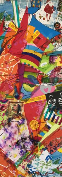 Noël, 2011, technique mixte sur toile 90x90 cm