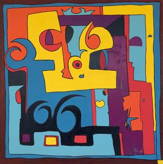 Enjoy, 2012,  technique mixte sur toile 90x90 cm